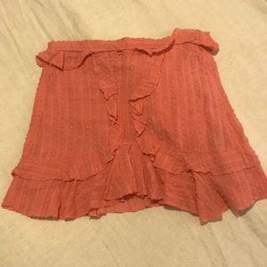 ISABEL MARANT *CUTE* Salmon Ruffle Skirt